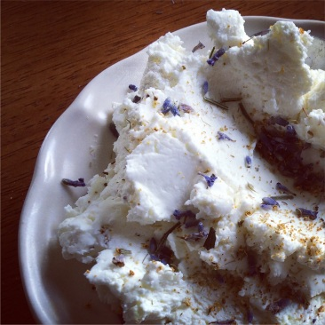Chevre with lavender and fennel.